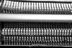 里面钢琴splittings字符串 免版税库存图片