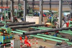 里面钢铁生产厂 免版税图库摄影