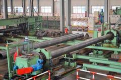 里面钢铁生产厂 图库摄影