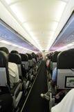 里面飞机客舱 图库摄影