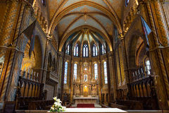 里面马赛厄斯教会在布达佩斯,匈牙利 库存照片