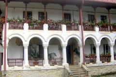 里面Agapia修道院,摩尔达维亚 库存图片