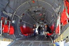 里面C-27J斯巴达军用飞机 库存照片