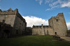 里面Cahir城堡在爱尔兰 库存图片