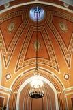 里面Chesme教会东正教教会在圣彼得堡,俄罗斯 图库摄影