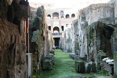 里面Colosseo罗马 免版税库存照片