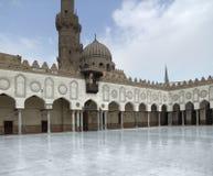 里面El Azhar清真寺 图库摄影