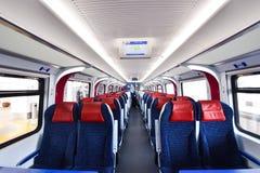 里面ETS火车城市间的火车业务在马来西亚 免版税库存照片