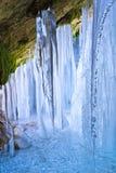 里面icefall 库存照片