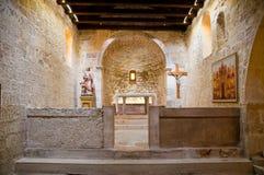 里面jurandvor的圣卢西亚教会与Bascanska ploca - Baska 库存照片
