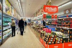 里面Lidl超级市场 免版税库存图片