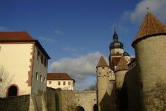 里面Marienberg堡垒(城堡),维尔茨堡,拜仁,德国 库存照片