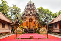 里面Pura塔曼阿云寺,巴厘岛 图库摄影