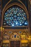 里面Sainte-Chapelle在巴黎,法国 免版税库存照片