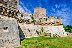 巴里,普利亚,意大利- Castello Svevo 免版税库存照片