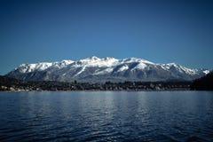 从巴里洛切湖的看法,巴塔哥尼亚,阿根廷。 免版税库存图片