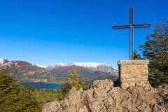巴里洛切风景在阿根廷 免版税库存图片