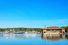 里维埃拉在莱芒湖, WI 免版税图库摄影