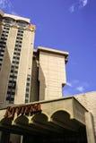 里维埃拉旅馆拉斯维加斯后方 图库摄影