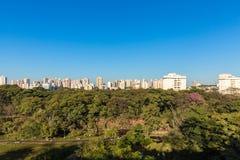 里贝朗普雷图市公园,亦称Curupira公园 免版税库存照片