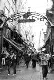 邻里balik pazari在伊斯坦布尔 库存照片