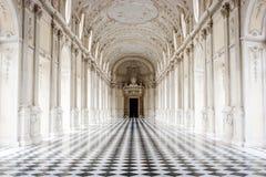 重创的圆顶场所,韦纳里亚雷亚莱宫殿,都灵,意大利 图库摄影