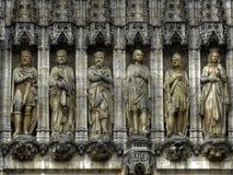 重创的地方,布鲁塞尔,比利时雕象  免版税库存图片