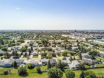 重创的大草原,亚伯大,加拿大住宅区  免版税库存照片