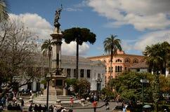 重创的广场-基多,厄瓜多尔 免版税图库摄影