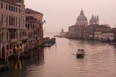 重创的运河。 免版税图库摄影