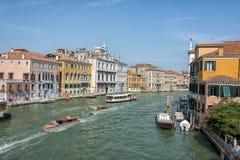 重创的运河,威尼斯,意大利 免版税图库摄影