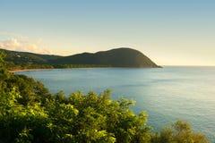 重创的anse海滩,瓜德罗普,法属西印度群岛 库存图片