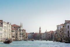 重创的Canale, Venezia 免版税库存图片
