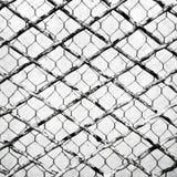 重叠两不同金属丝网 免版税图库摄影