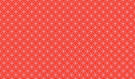 重叠反对橙红色背景的稀薄的圈子的抽象无缝的样式 皇族释放例证