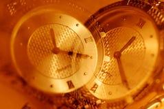 重叠的二手表 库存照片