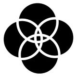重叠的基本的形状提取与轻微的畸变的元素 皇族释放例证