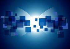 重叠的正方形 免版税库存图片