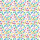 重叠的颜色 无缝五颜六色的模式 免版税图库摄影