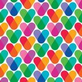 重叠的颜色 无缝五颜六色的模式 库存图片