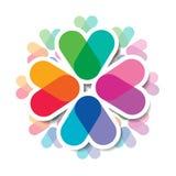 重叠的颜色 现代几何设计 免版税库存照片