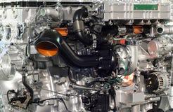 重型卡车引擎特写镜头 免版税库存图片