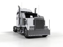重型卡车白色 皇族释放例证