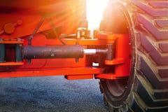 重型建筑站点拖拉机零件 免版税图库摄影