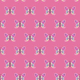重复与蝴蝶的样式,无缝 库存图片