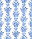 重复冬天毗邻框架,水彩装饰物条纹 免版税库存图片
