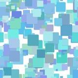 重复几何方形的样式背景-从深蓝正方形的向量图形设计 皇族释放例证