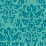 重复在小野鸭蓝色的锦缎样式 免版税库存图片