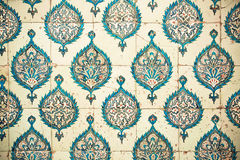 重复在陶瓷砖的样式在土耳其 免版税图库摄影