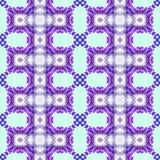 重复抽象几何无缝的样式的紫色 免版税库存照片